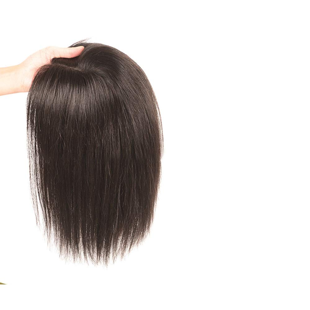BOBIDYEE フルハンド織物リアルヘアロングストレートヘア女性のための追加の見えないシームレスなかつらヘアピースファッションかつら (色 : [9x14] 25cm black) B07R8YWBRP [9x14] 15cm dark brown  [9x14] 15cm dark brown
