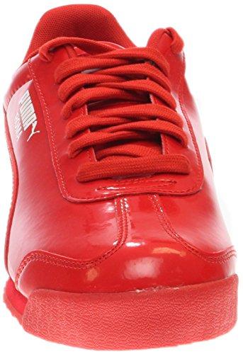 Las zapatillas de deporte de patente Puma Roma High Risk Red/White