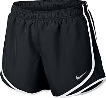 Nike Womens Dri-Fit Tempo Running Shorts Black/White/Wolf Grey 831558-011 Size X-Small