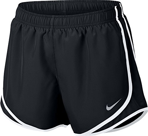 NIKE Women's Dry Tempo Running Short Black/White/Wolf Grey Size XX-Large