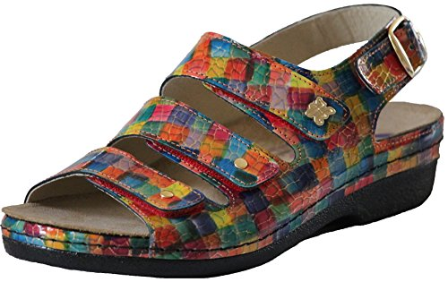 Helle Mode Comfortabele Dames 356 - F3 Velcro Slingback Sandaal Meerdere Barbastro