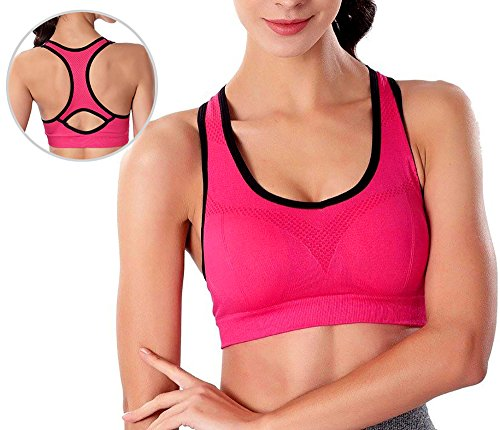 Fitglam Womens Workout Sports Bra Yoga Top Seamless with Racerback 3/2/1pack