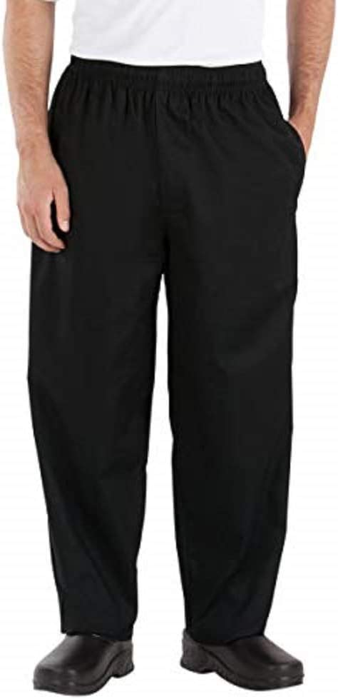 Men/'s Happy Chef  Restaurant Black Uniform Pants,Style HC10 Size XL USED