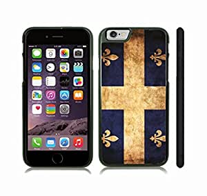 iStar Cases? iPhone 6 Case with Quebec Distressed Grunge Flag , Snap-on Cover, Hard Carrying Case (Black)