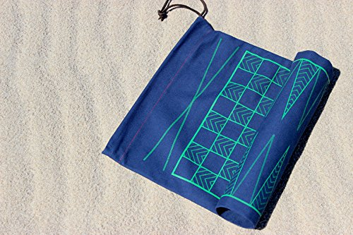 A Summer Shop Double-Sided Backgammon/Checkers Game Navy Bag/Green Detail