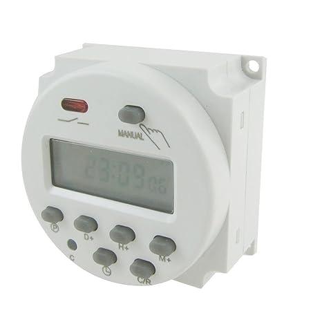 SODIAL (R) - Interruptor Temporizador de relé de 12 V CC, con pantalla