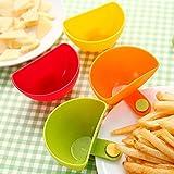 JD Million shop !!!Hot (Buy 1 free 1) Hot sale 1Pcs Dip Clips Kitchen Bowl kit Tool Small Dishes Spice Clip For Tomato Sauce Salt Vinegar Sugar Flavor Spices