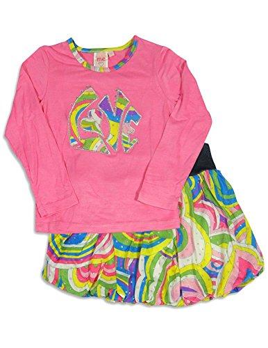 Lipstik Skirt Girls - ME ME ME BY LIPSTIK - Little Girls' Long Sleeve Love Skirt Set, Pink, Multi 24493-5