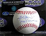 Jose Oquendo autographed baseball (St Louis Cardinals great moment) inscribed 1987 NLCS HR AW Certificate of Authenticity Hologram OMLB