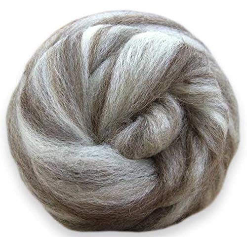 4 oz Paradise Fibers Blue Faced Leicester Roving - Humbug - Perfect for Woolen Yarn & Needle ()