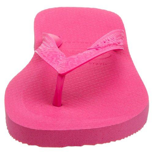 Havaianas Femmes Sandale Organique Slim Bleu Marine / Argent Hot Pink