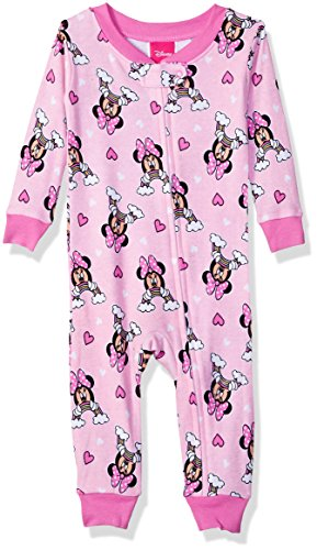 - Disney Baby Girls Minnie Mouse Cotton Non-Footed Pajama, Rainbow Pink, 12M