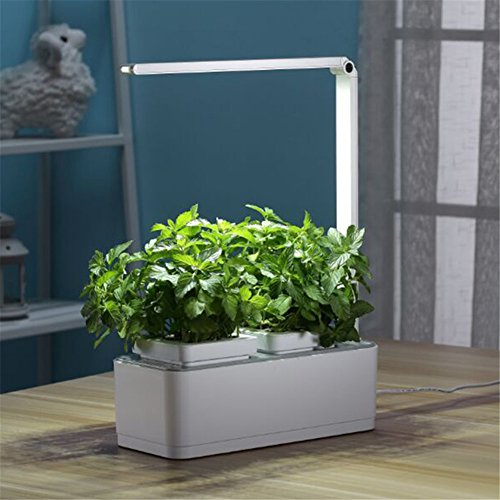 smart hydroponics indoor herb garden kit mini plant grow led light growing system with self. Black Bedroom Furniture Sets. Home Design Ideas