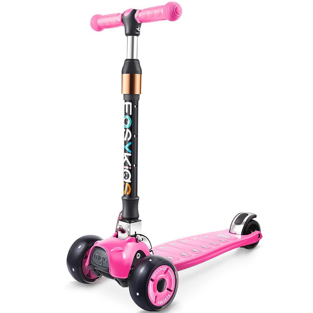 CMXIA Motorino Pieghevole di Altezza Regolabile per i Bambini 2-13 Anni motorino Silenzioso della Ruota di Usura del motorino ( Colore   rosa )