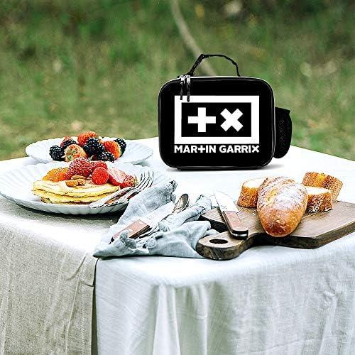 Garrix2 女性男性大人の大学の仕事のピクニックのための取り外し可能な革食事パックランチバッグ