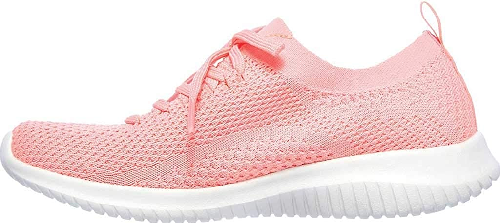 Skechers Damen Ultra Flex Statements Sneaker Korallenrot