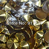Garment Rivet - Metals Studs 5mm 6mm 8mm 10mm Silver Gold Color Cone Plating Studs Gold Rivets and Spike, Convex hotfix Studs for Clothing - (Color: Gunmetal, Size: 10mm 10000pcs)