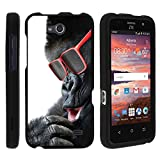 ZTE Maven case, ZTE Fanfare Cover, Full Body Perfect Fit Snap on Hard Cell Phone Cover Adorable Animal Design Series by Miniturtle® - Gorilla with Sunglasses