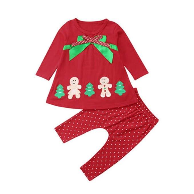 Wang-RX Navidad para niños pequeños bebés niños Camiseta Tops ...