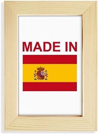 DIYthinker Hecho en España Amor del país de Escritorio de Madera Marco de la Foto del Arte Pintura 5X7 Pulgadas: Amazon.es: Hogar