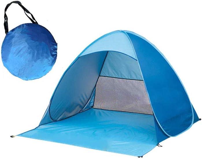 Ardermu Tienda de Campaña para la Playa - Pop Up Tent Beach Shelter Tienda -Bolsa de Transporte para 2-3 Personas se Puede Usar en Tienda de Campaña para Campamento