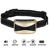 Bark Collar -Barking collar for dogs Rechargeable -Anti Barking Device for Large Medium Small size dogs – New model with Safe Shock Vibration and Beep -Humane and Effective Stop Bark Control Anit Bark