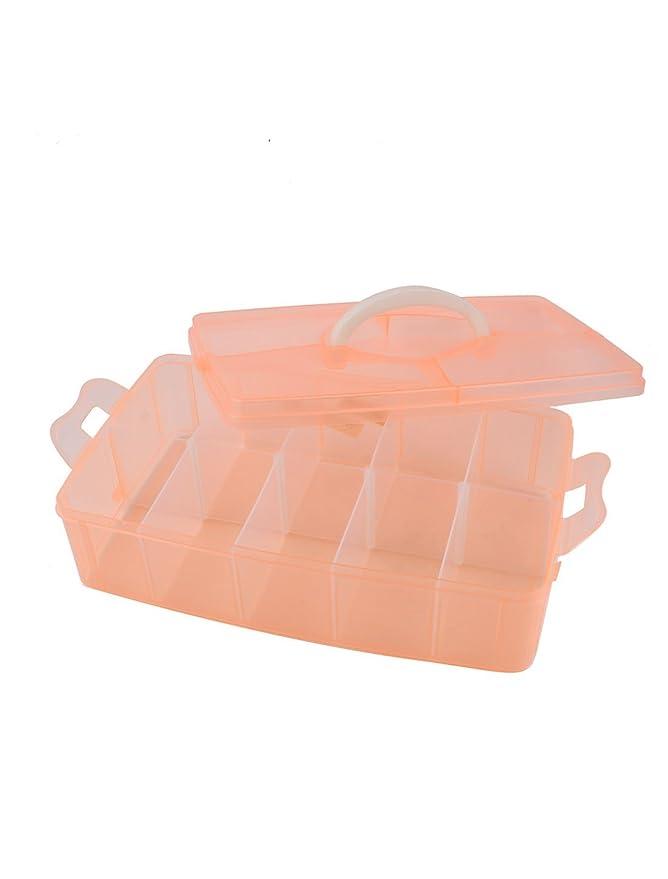 Albaricoque plástico desmontable 10 ranuras Componentes del caso del almacenaje de la joyería: Amazon.es: Hogar