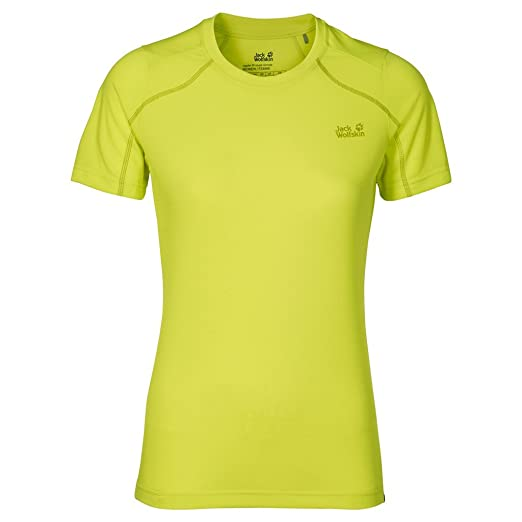 0acb52b617 Jack Wolfskin Women's Helium Chill T-Shirt, Bright Absinth, Small