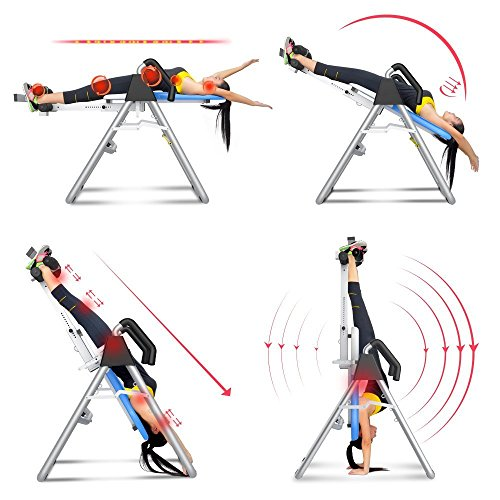 Richarm US Stock! Brand Good Quality Home Sports Equipment Folding Fitness Table Inversion Table Thrapy System Colour Blue