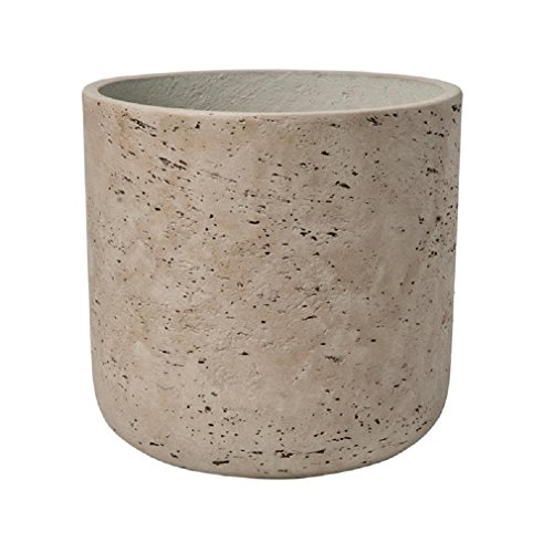 Rough Grey Planter Washed Fiberstone indoor and outdoor Flower Pot 7