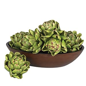 Nearly Natural 4686 Artichoke Artificial Flower, 5-Inch, Green, Set of 6 14