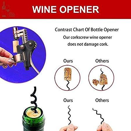 DFBGL Juego de abridor de Botellas de Vino, Kit Manual, 6 Piezas, Herramientas de sacacorchos, Juegos de Accesorios para Vino, utilizados en Bares de restaurantes, hogar