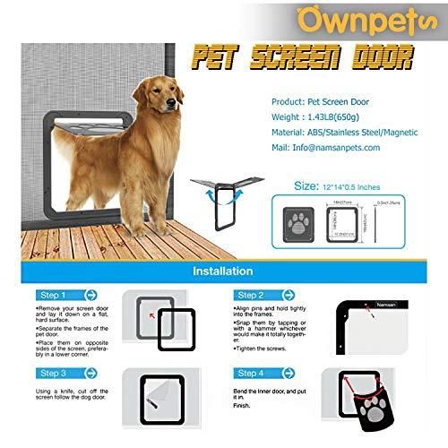 OWNPETS Dog Screen Door, Lockable Pet Screen Door, Magnetic Self-Closing Screen Door with Locking Function, Sturdy Screen Door for Dog Cat by OWNPETS (Image #3)