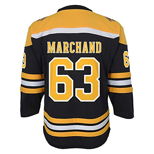 Outerstuff NHL NHL Boston Bruins Kids & Youth Boys Brad Marchand Replica Jersey-Home, Black, Youth Large/X-Large(14-18) ()