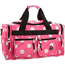 Rockland PTB419 Luggage Tote Bag, Pink Dots, One Size, 19-Inch