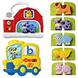 LeapFrog Fridge Farm Magnetic Animal and Fridge Phonics Magnetic Letter, Kids Learning & Educational Toys, Basic Skills Development, Kids Brain Boosting Activity, Fun Gift Bundle