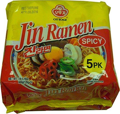 Price comparison product image Jin Ramen Multi Pack (1lb 5.16oz. 5 Units) (Spicy)