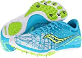 Cheap Saucony Women's Shay XC3 Spike Cross-Country Shoe,Light Blue/Citron,10 M US