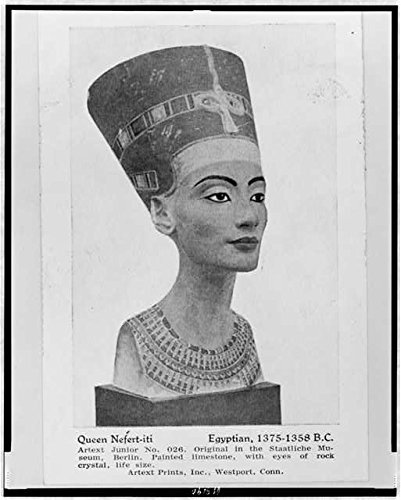 HistoricalFindings Photo: Photo of Bust,Queen NEF´ERT-iti,Egyptian,1375-1358 B.C,Queen of - Queen Nefertiti Bust