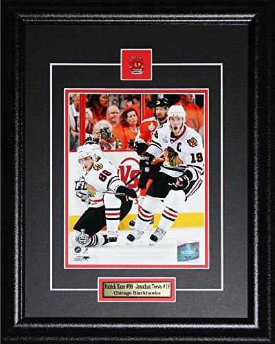 Patrick Kane & Jonathan Toews Chicago Blackhawks Memorabilia NHL 16x20 Collectible Sports Frame 8x10 Photo Chicago Blackhawks Jonathan Toews Framed
