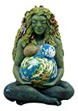 """Ebros Gift Millennial Gaia Earth Mother Goddess Te Fiti Statue 7""""Tall By Oberon Zell (Earth Green)"""