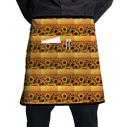 Price comparison product image Sunset In Sunflower Field Maryland Aprons Chef Apron For Women Men Girl Kids Gifts Kitchen Decorations With Pocket