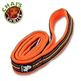 Chai's Choice Pet Products 78'' Best Padded 3M Reflective Outdoor Adventure Dog Leash, Large, Orange