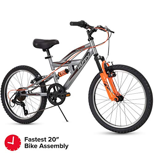 Huffy Kids Dual Suspension Mountain Bike, 20 inch, Quick Assembly Available best to buy