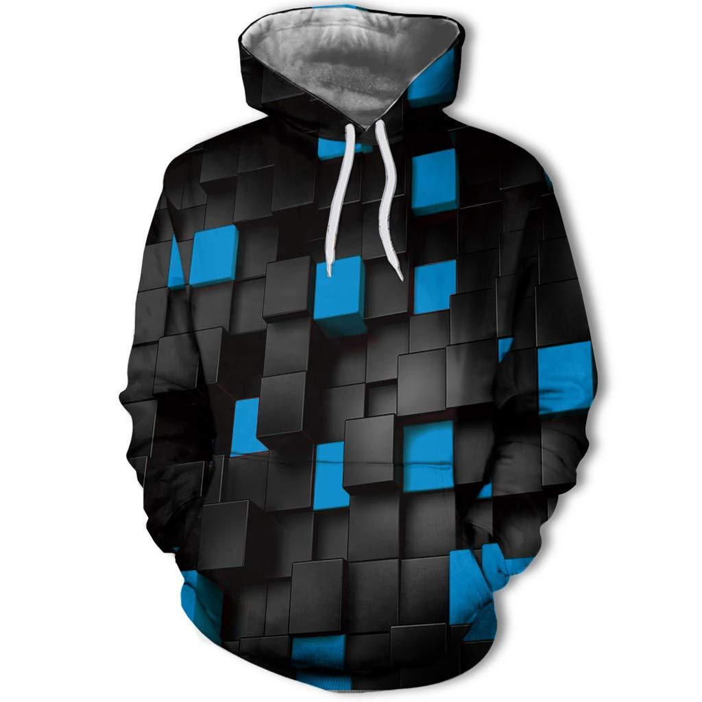 Bravetoshop Unisex 3D Creative Hoodies Realistic Graphic Patterns Print Novelty Fashion Hoodie Pullover Sweatshirt (Blue,XXXL) by Bravetoshop