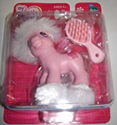My Little Pony Winter Holiday Christmas With Hat, 4 Furry Boots & Brush! Ribbon & Snowflake Mark!
