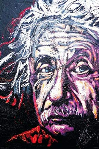 Pyramid America Albert Einstein Rock Demarco Poster 24x36 inch