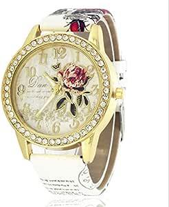 FAMILIZO Mujeres Hombres Elegante Moda De Cristal Rhinestone De Acero Inoxidable Reloj De Cuarzo Analógico De Cuarzo