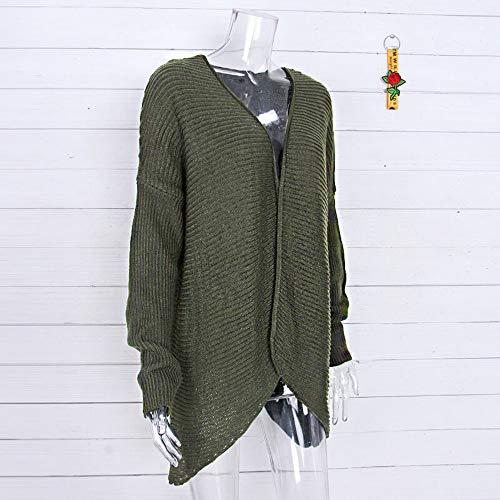 Luckycat Las Mujeres de Invierno Batwing Manga sólido de Punto suéter del Vendaje Cubre Blusa: Amazon.es: Ropa y accesorios