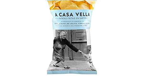 A CASA VELLA patatas DE GALICIA fritas elaboradas en aceite de oliva virgen extra y sal mineral del Valle de Añana envase 150 g: Amazon.es: Alimentación y ...
